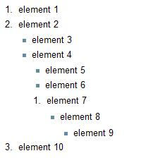 Combining unordered and ordered list elements in a crazy partnership