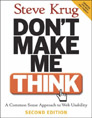 Book cover for Don't make me think