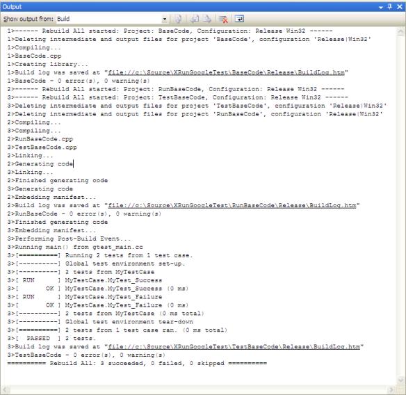 Google Test (GTest) setup with Microsoft Visual Studio for C++ unit