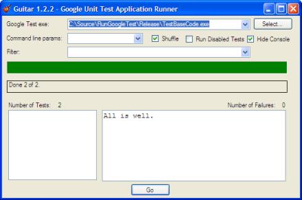 Screenshot of gtest-gbar