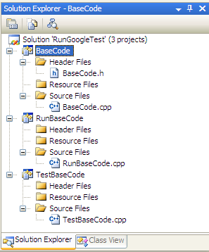 Solution view in Visual Studio 2008